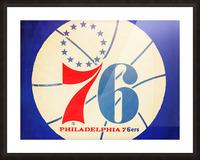 Vintage Philadelphia 76ers Art Picture Frame print