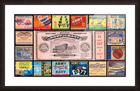 Army Navy Football Ticket Stub Collage Picture Frame print