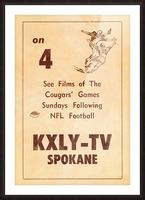1962 kxly tv spokane football ad Picture Frame print