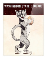1962 Washington State Cougars Art Picture Frame print
