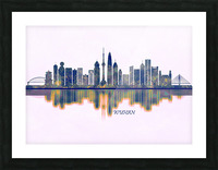 Wuhan Skyline Picture Frame print