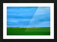 Painted Fields - 2017 Gallery Artwork of the Year - Minimalism Picture Frame print