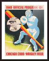 1949 Chicago Cubs Program Art Picture Frame print