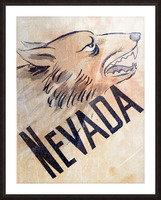 1946 Nevada Wolfpack Art Picture Frame print