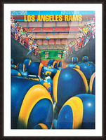 1984 Los Angeles Rams Enter The Field Picture Frame print