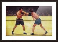 Vintage Boxing Art Picture Frame print