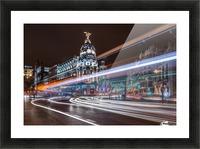 Madrid Traffic Picture Frame print
