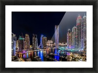 Happy New Year Dubai Picture Frame print