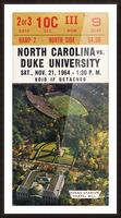 1964 North Carolina vs. Duke Picture Frame print