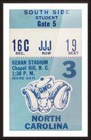 1978 North Carolina Student Ticket Picture Frame print
