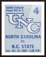 1982 North Carolina vs. NC State Picture Frame print
