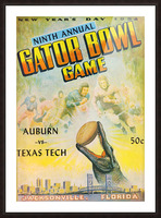 1954 Gator Bowl Auburn vs. Texas Tech Picture Frame print
