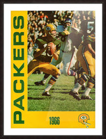 1966 Green Bay Packers Football Art Picture Frame print