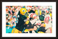 Vintage Green Bay Packers Art Digital Painting Picture Frame print