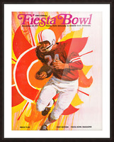 1971 First Fiesta Bowl Program Picture Frame print
