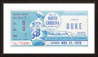 1970 North Carolina vs. Duke Picture Frame print