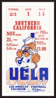 1944 USC vs. UCLA Picture Frame print