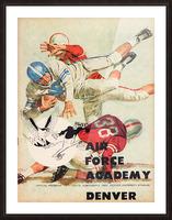 1961 Air Force vs. Denver Picture Frame print