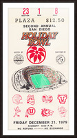 1979 Holiday Bowl Indiana Win Picture Frame print