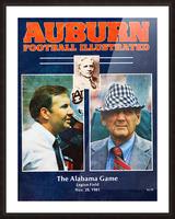 1981 Alabama vs. Auburn Program Cover Picture Frame print