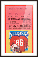 1986 Oklahoma vs. Nebraska Picture Frame print