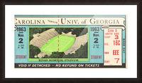 1963 North Carolina vs. Georgia Picture Frame print