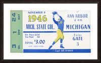 1946 Michigan vs. Michigan State Picture Frame print