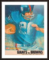 1966 New York Giants Program Cover Art Picture Frame print