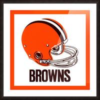 1971 Cleveland Browns Helmet Picture Frame print