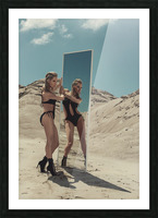 BURNING woMAN II Picture Frame print