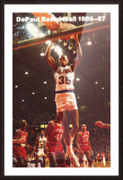 1986-87 DePaul Basketball Picture Frame print