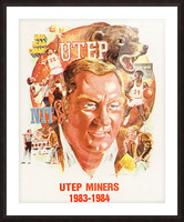 1983 UTEP Basketball Picture Frame print