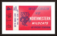 1965 Northwestern vs. Wisconsin Picture Frame print