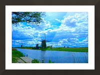 Windmills of the Netherlands 2 of 4 Picture Frame print