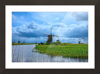 Windmills of the Netherlands 3 of 4 Picture Frame print