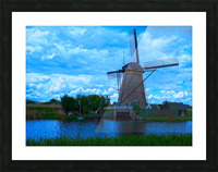 Windmill After the Storm Picture Frame print