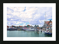 Inland Harbor Netherlands 1 of 5 Picture Frame print
