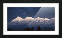 Mt. Cheam Range In Snow Picture Frame print