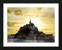 Golden Mont St Michel Picture Frame print