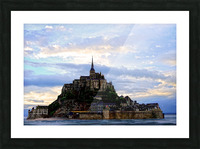 Mont St Michael Rising Tide Picture Frame print