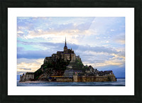 Mont St Michael Rising Tide Panorama Picture Frame print