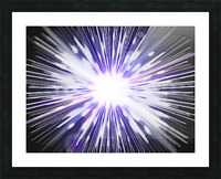 Speed of light Picture Frame print