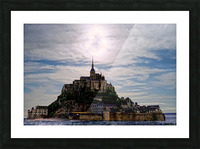 Mount Saint Michael The Fires of Heaven Picture Frame print