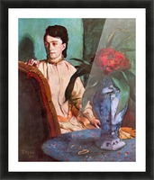 Seated woman by Degas Picture Frame print