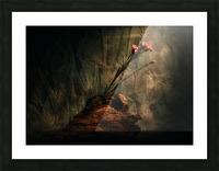 Montagne et Zen Picture Frame print