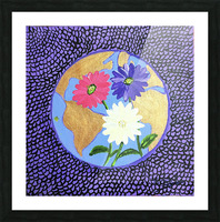 The Earth Daisy Husama Styl-Background Picture Frame print