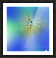 World of Drops Picture Frame print