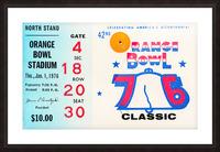 1976 Orange Bowl Ticket Stub Wall Art Picture Frame print