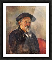 Self Portrait with Beret by Cezanne Picture Frame print