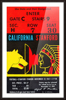 1947 Cal vs. Stanford Picture Frame print